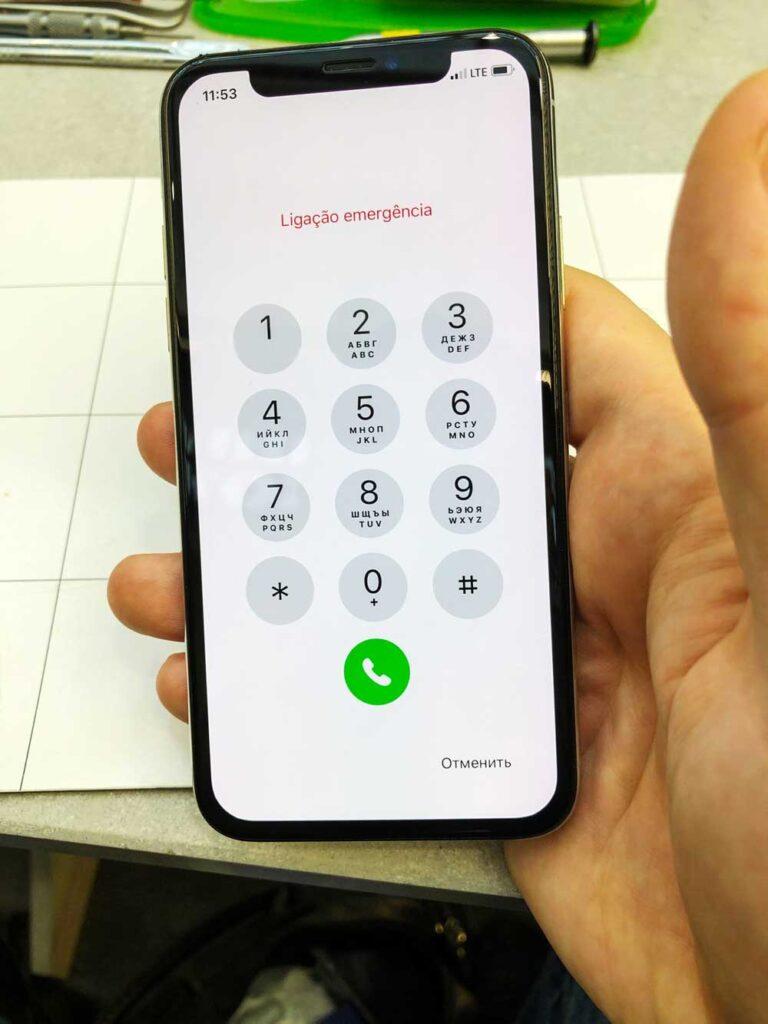 Замена стекла IPhone 11 до и после ремонта 25-09-2022