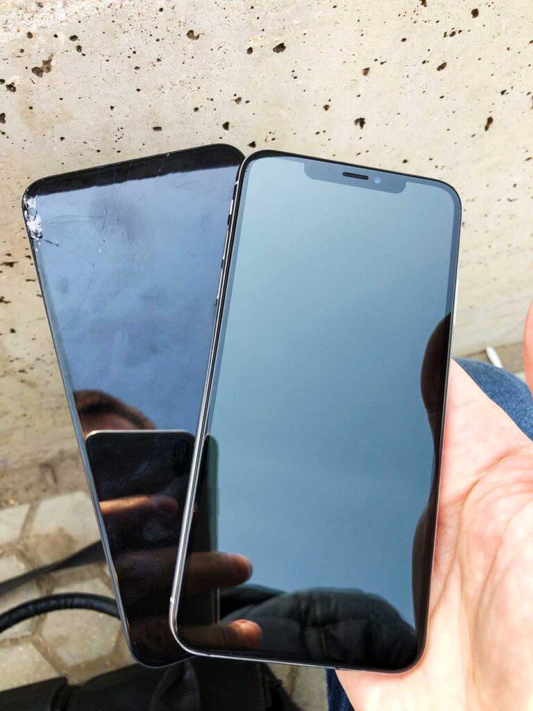 Замена экрана IPhone XS Max готовый результат