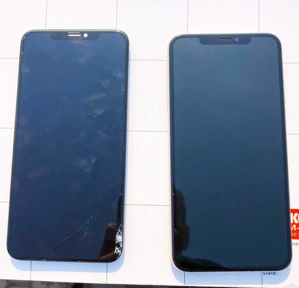 Замена экрана iphone на улице