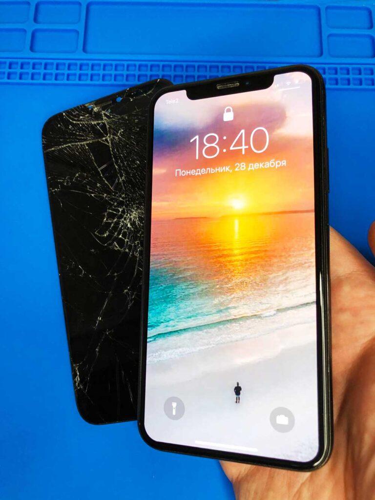 Замена стекла и экрана IPhone