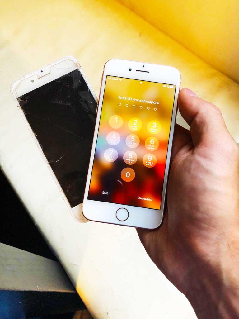 Замена стекла IPhone 6S Plus