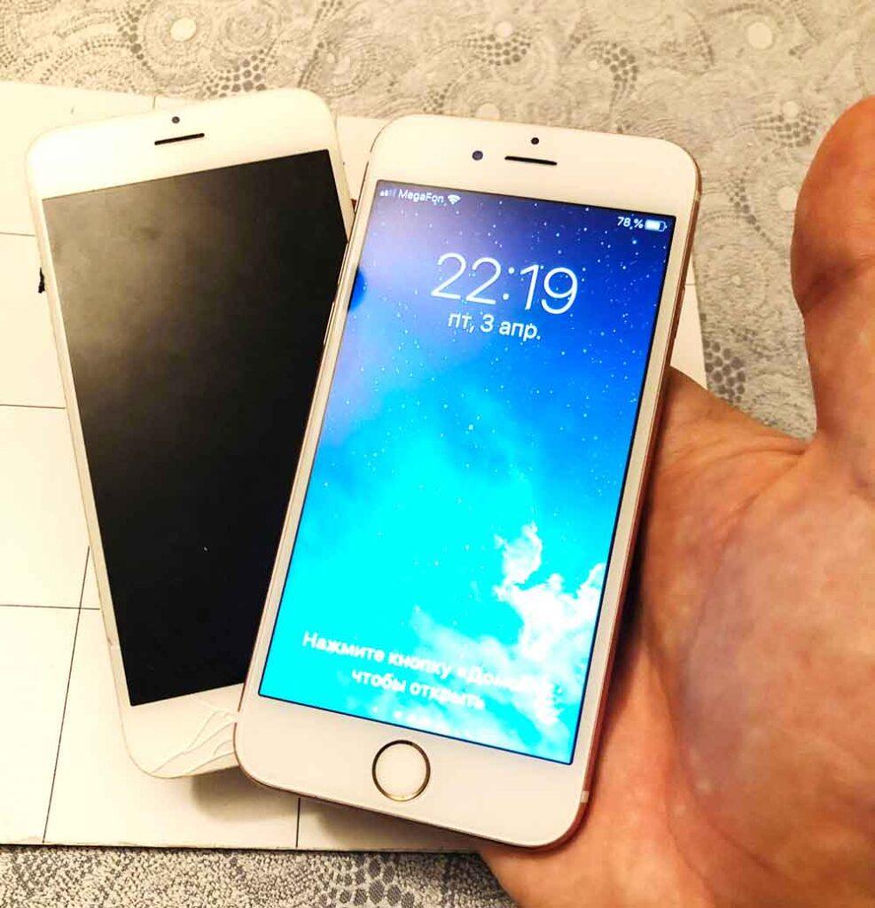 Замена экрана IPhone 6-2