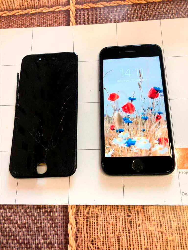 заменили экран IPhone 7