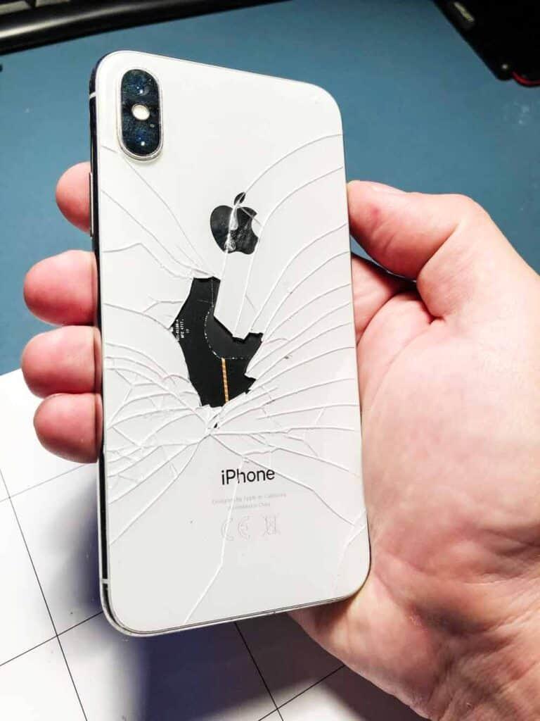 замена заднего стекла iphone x-4