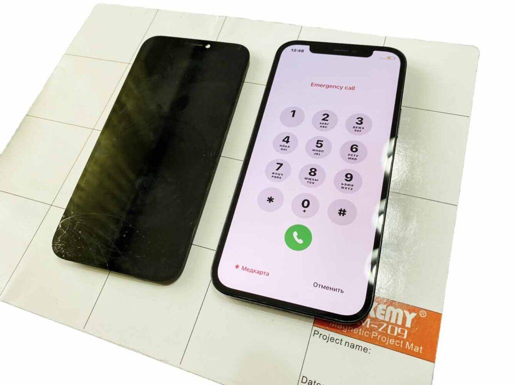 IPhone 12 заменили стекло