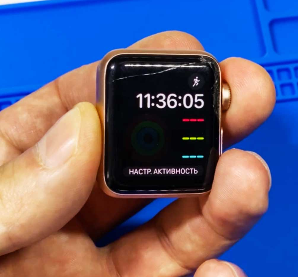 Замена стекла Apple Watch 3