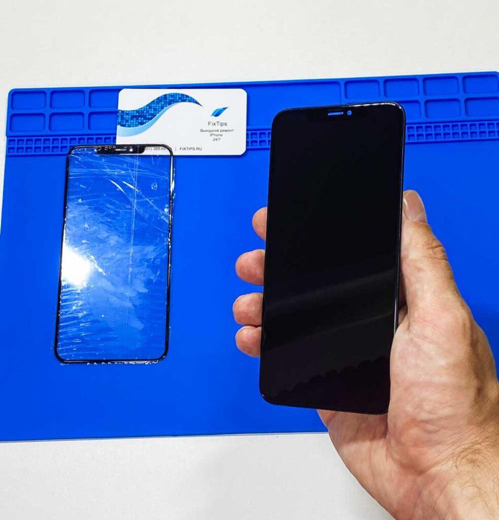 Замена стекла IPhone-xs max 2