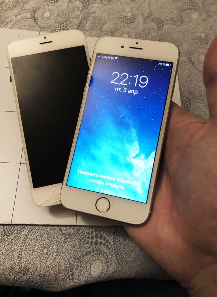 Ремонт Белого дисплея IPhone 7